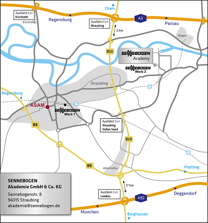 Directions to the SENNEBOGEN Academy - How to get to us